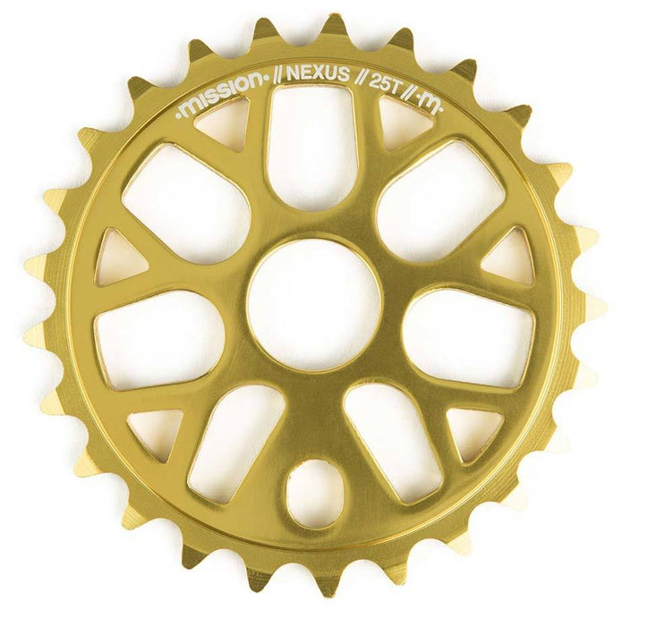 Mission Nexus Sprocket is Gold at Albe's BMX