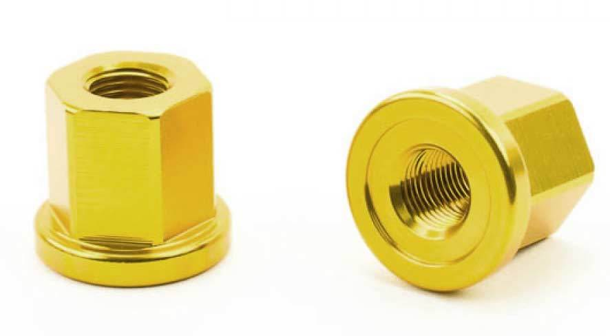 "Mission BMX 3/8"" Axle Nuts at Albe's BMX Bike Shop"
