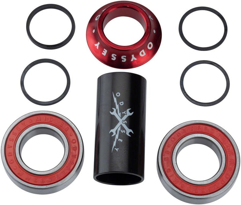 Odyssey Mid Bottom Bracket in Red at Albe's BMX