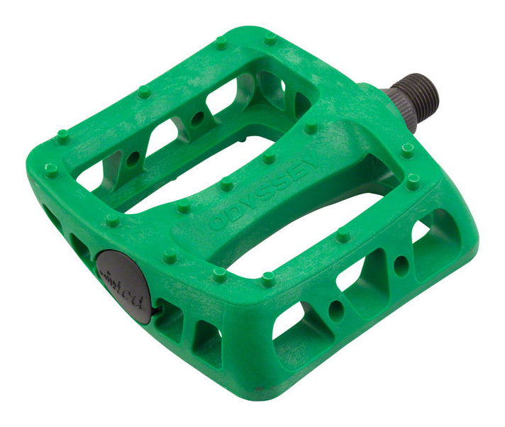 Odyssey Twisted PC Pedals In Kelly Green at Albe's BMX Bike Shop