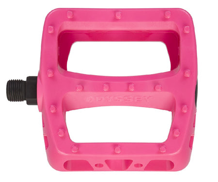 Odyssey Twisted PC Pedals In Pink at Albe's BMX Bike Shop
