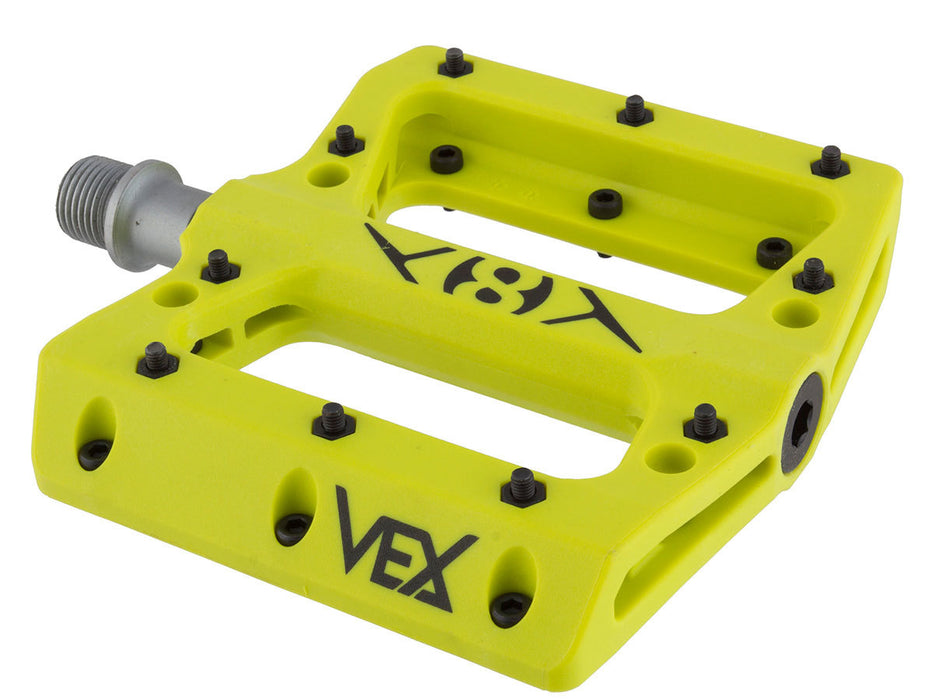 Origin8 Vex Platform Pedal in Flo Yellow at Albe's BMX Bike Shop Online