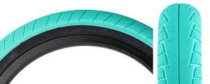 "Primo 555C (Connor Keating) 20"" Tire in Teal at Albe's BMX Bikes Online"