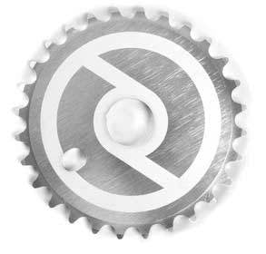 Primo Solid V2 Sprocket in Silver at Albe's BMX Bike Shop