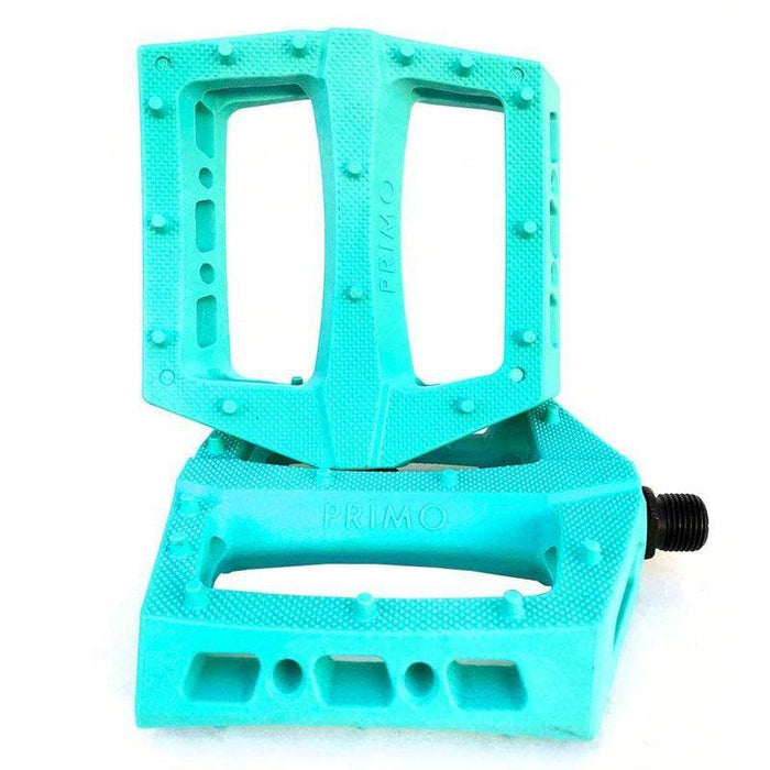 Primo Turbo PC Pedals in Teal at Albe's BMX Online