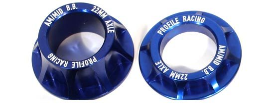 Profile Cone Spacer Kit in Blue 22mm at Albe's BMX