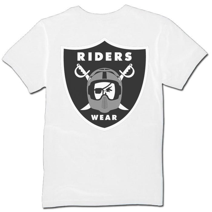 Riders Wear T-Shirt in White at Albe's BMX Bike Shop Online