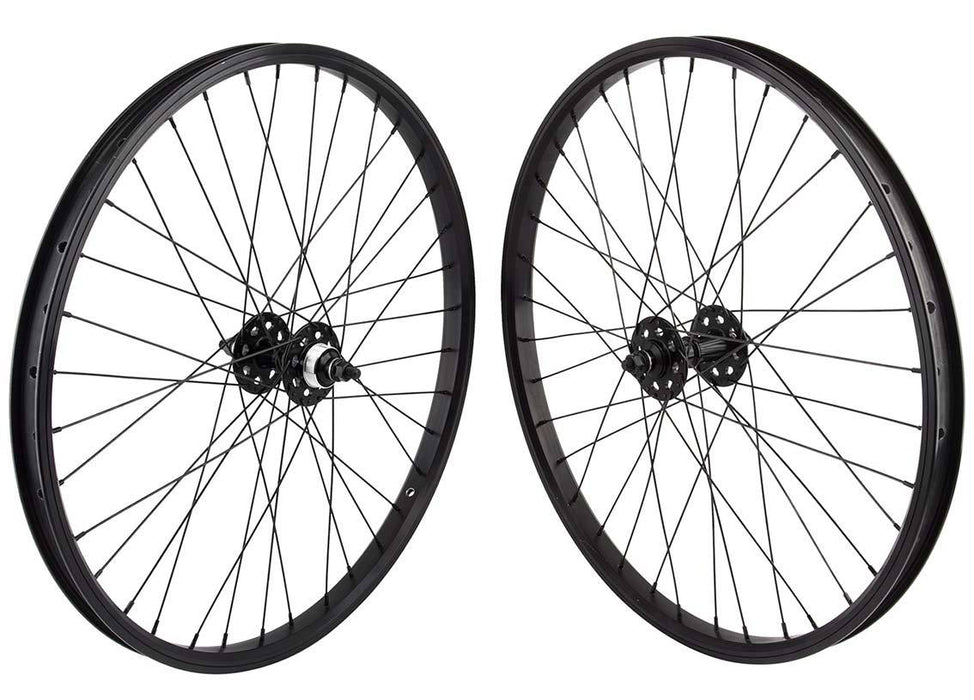 SE Racing 24 inch BMX Wheel Set in Black at Albe's BMX