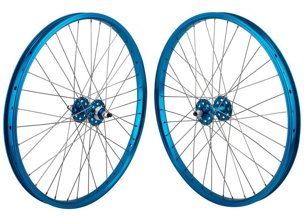 SE Racing 24 inch BMX Wheel Set in Blue at Albe's BMX