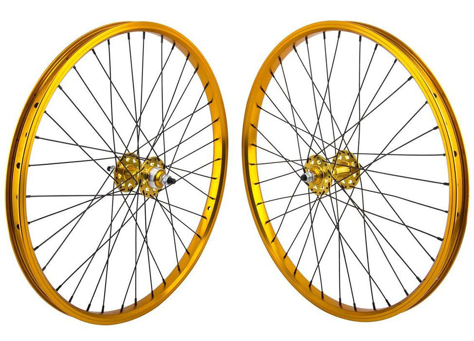SE Racing 24 inch BMX Wheel Set in Gold at Albe's BMX