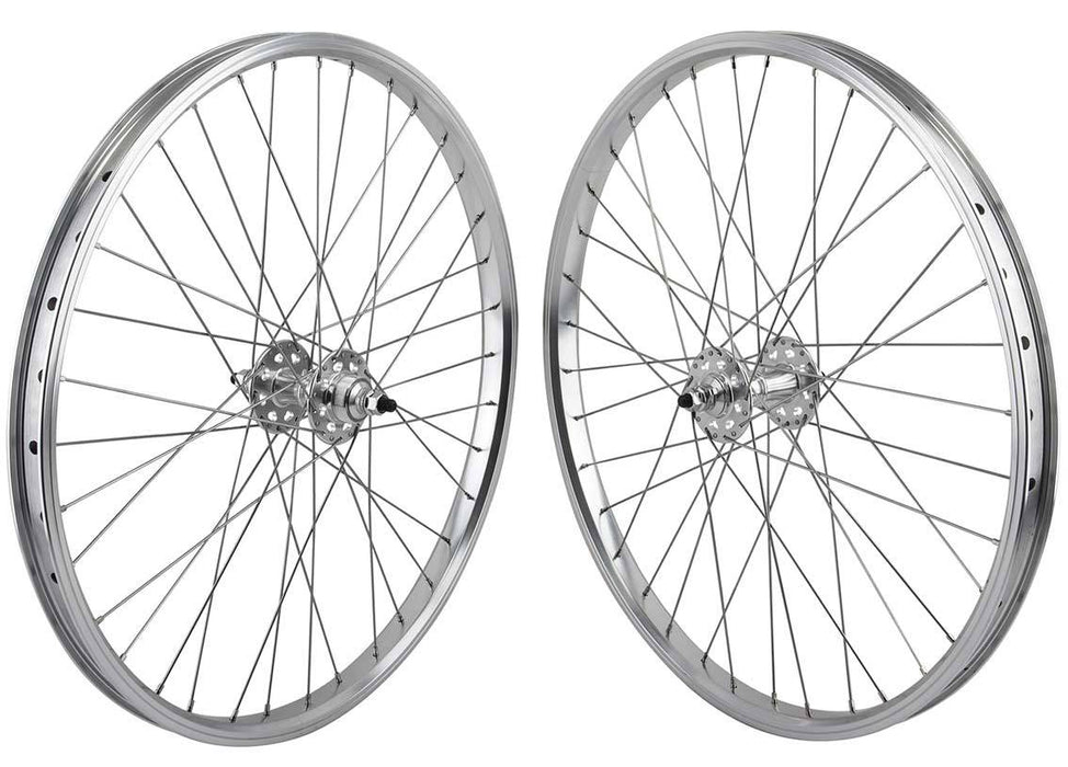 SE Racing 24 inch BMX Wheel Set in Silver at Albe's BMX