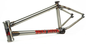 S&M Holy Diver Frame in gloss clear at Albe's BMX Online