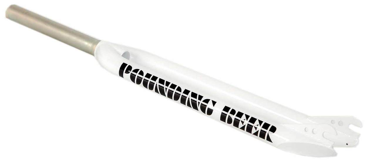 S&M Pounding Beer 29 inch Fork in White at Albe's BMX
