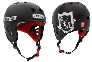 S&M Pro-Tec Full Cut Helmet in Black at Albe's BMX Bike Shop