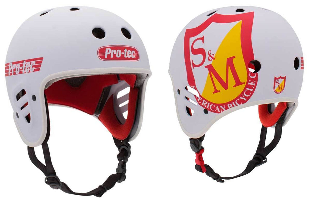 S&M Pro-Tec Full Cut Helmet in White at Albe's BMX Bike Shop