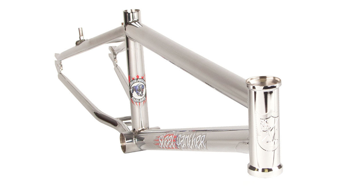 S&M Steel Panther Frame in chrome at Albe's BMX Online