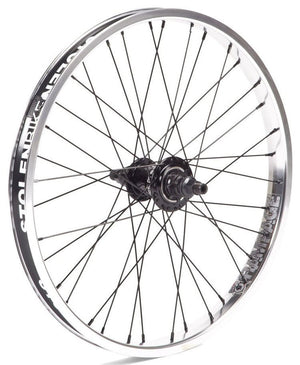 Stolen Bikes Rampage Freecoaster wheel in Polished at Albe's BMX Bike Shop