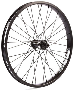 Stolen Rampage front wheel female in black at Albe's BMX