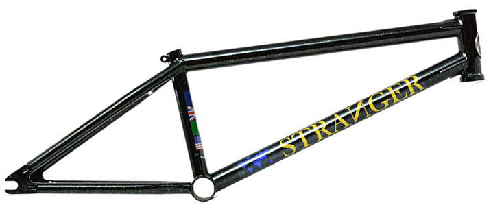 Stranger Ballast Nate Richter Frame in black and green at Albe's BMX Bike Shop