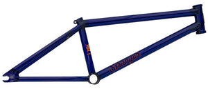 Stranger Piston BMX Frame in Cobra Blue at Albe's BMX Bike Shop Online