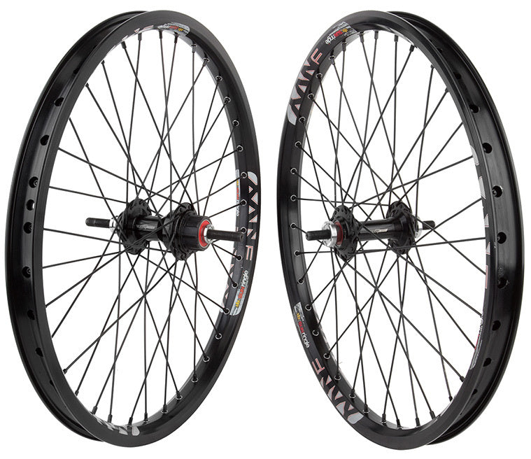 Sun Envy BMX wheelset in black at Albe's BMX