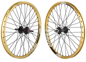 Sun Envy BMX wheelset in gold at Albe's BMX