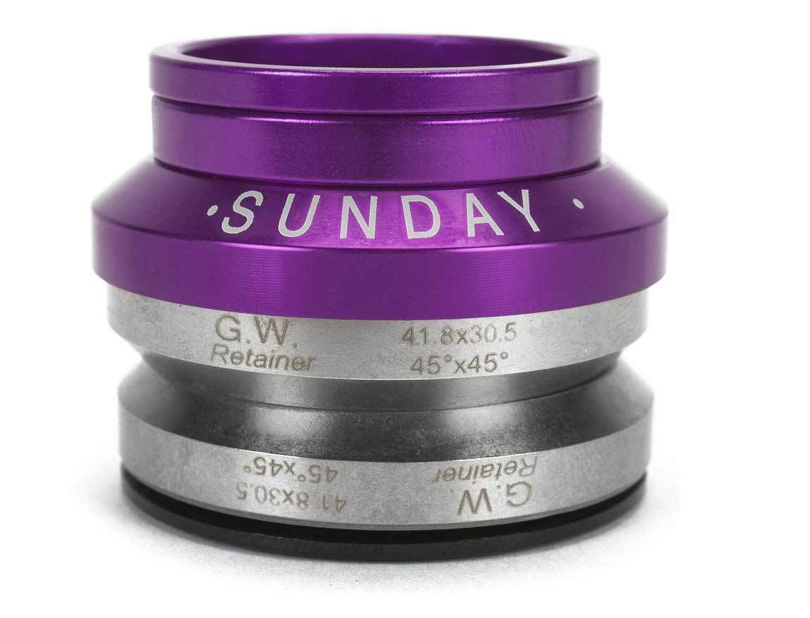 Sunday Integrated Headset in Purple at Albe's BMX Online