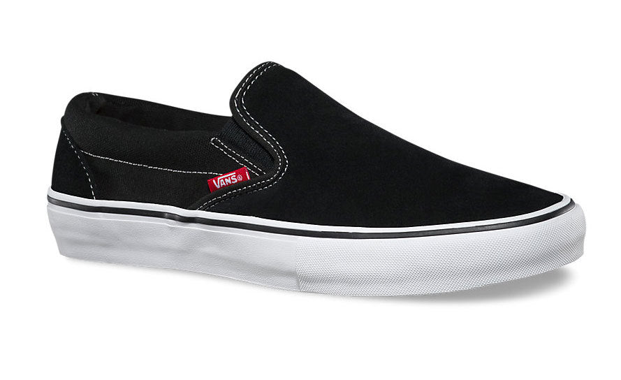 Vans Slip On Pro shoes in Black and White at Albe's BMX Bike Shop Online