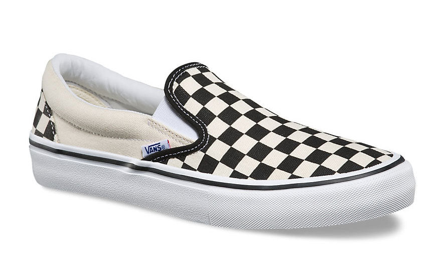 Vans Slip One Pro black and white Checkerboard shoes  at Albe's BMX Bike Shop Online
