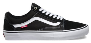 Vans Old Skool Pro Shoes in black and white at Albe's BMX Onliine
