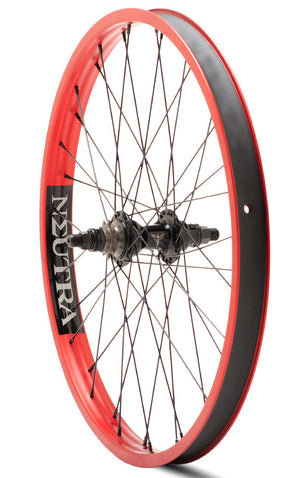 Verde Neutra 22 inch Rear Wheel in red at Albe's BMX Online