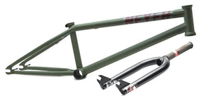 Verde Neyer Frame with Free Fork in Army Green at Albe's BMX Bike Shop Online