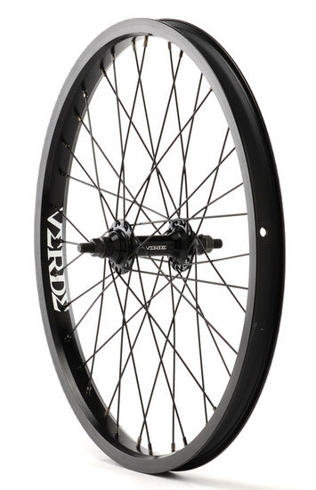 Verde Regent Front BMX Wheel in Black at Albe's BMX Shop