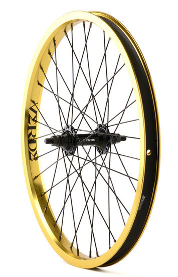 Verde Regent Front BMX Wheel in Gold at Albe's BMX Shop
