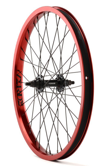 Verde Regent Front BMX Wheel in Red at Albe's BMX Shop