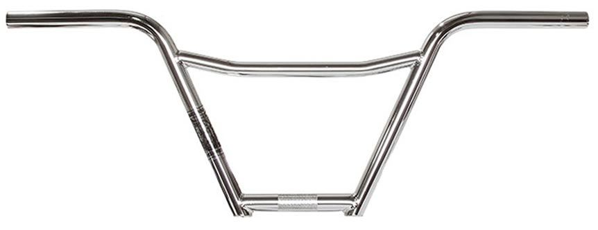 Volume Mad Dog 4pc BMX Handle Bar in Chrome at Albe's BMX Bike Shop