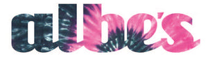 Albe's Uni-Print Vinyl Sticker in Pink Tie Dye at Albe's BMX Bike Shop
