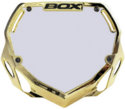 Box Two Number Plate Chrome Gold/Large