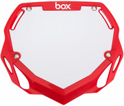 Box Two Number Plate Red/Large