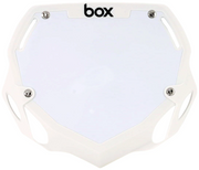 Box Two Number Plate White/Large
