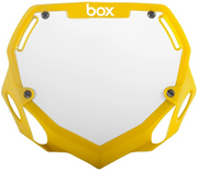Box Two Number Plate Yellow/Large