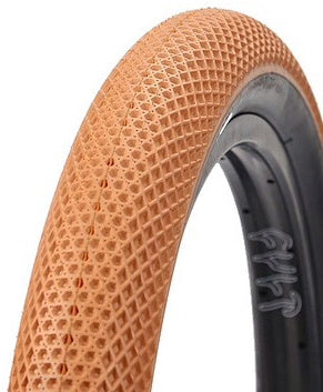 Cult BMX Tires in gum color featuring the ever so loved Vans shoes sole pattern