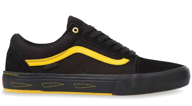 Vans Old Skool Pro BMX Shoes (Larry Edgar) Black / Yellow at Albe's BMX Online