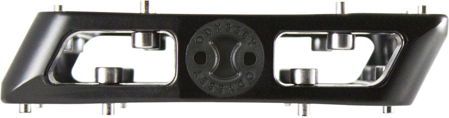Odyssey Grandstand V2 Alloy Pedals in black at Albe's BMX Online