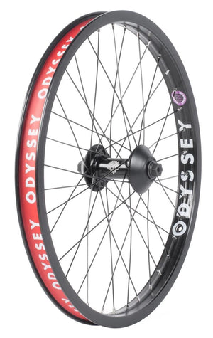 "Odyssey Quadrant 20"" Front Wheel in black at Albe's BMX Online"