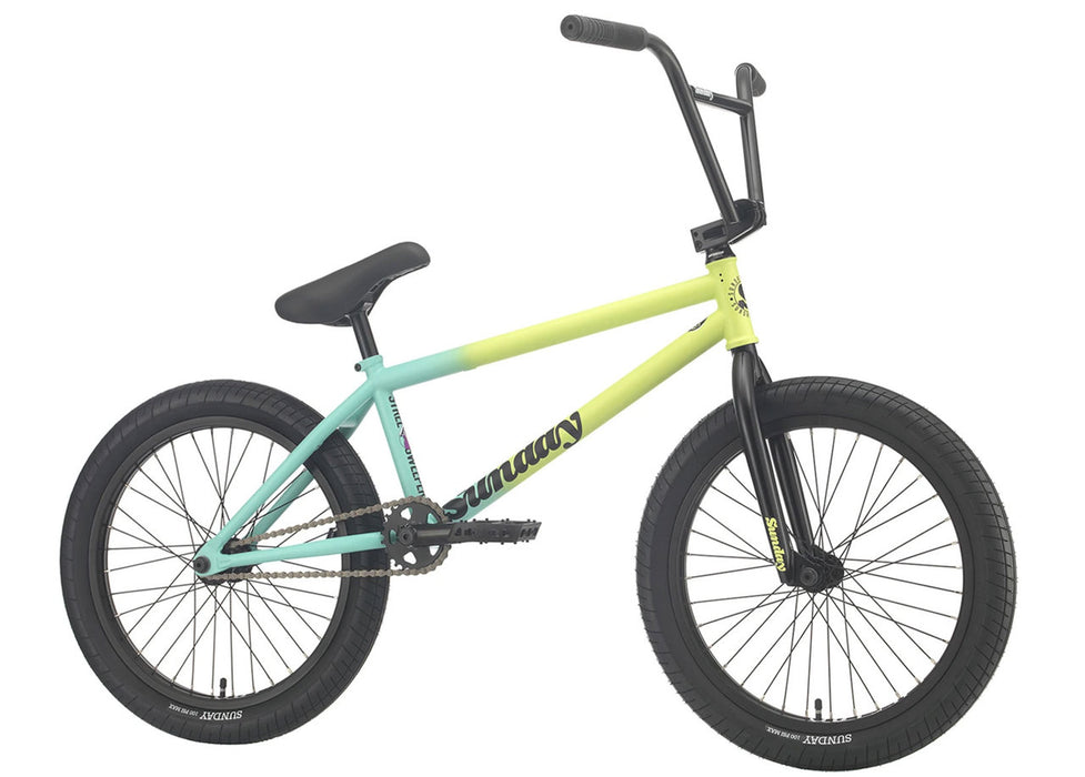 Sunday Street Sweeper Bike 2021 in Green Fade at Albe's BMX Online