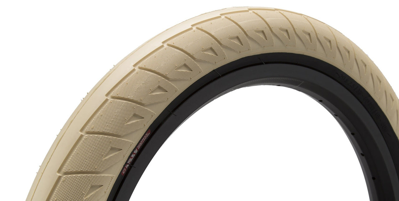Cinema Williams Tire in cream color at Albe's BMX Online