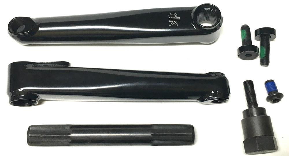 DK Social BMX cranks in black color
