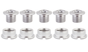 Origin 8 Chainring Bolts Steel/Single/Chrome