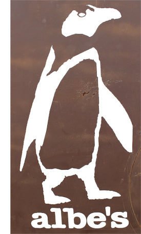 ALBE'S BIGGIE PENGUIN 12inch DIECUT STICKER
